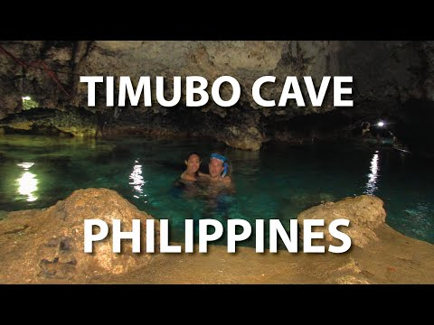 Swimming in a Spring Inside Timubo Cave, Camotes Island Philippines