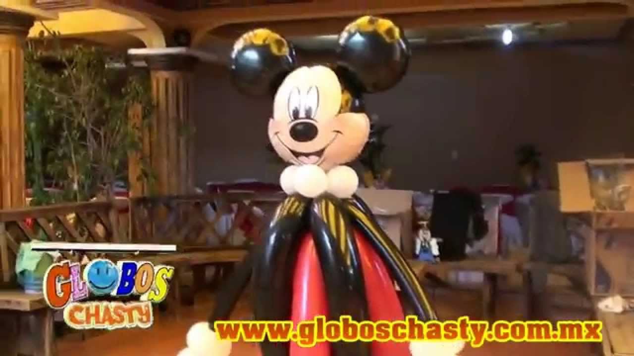 Decoracion De Mickey Mouse Globos Chasty Youtube
