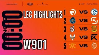 LEC Highlights ALL GAMES Week 9 Day 1 Spring 2019 - Includes MATCH OF THE CENTURY FNC vs G2