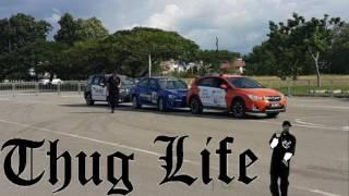 Russ Swift 4wd Subaru drift stunt on 15-16th April 2017 in Kota Kinabalu!
