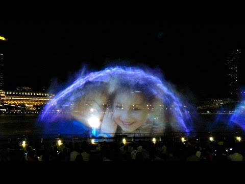 Wonder Full Light & Water Show - Marina Bay Sands, Singapore (From Event Plaza)