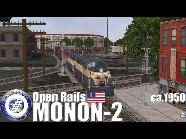 Open Rails (MSTS compatible train simulator) Monon Route ca 1950
