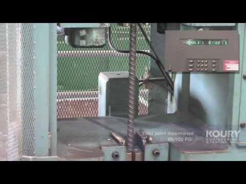 Rebar Tensile Strength Test - Koury Engineering