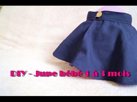 diy jupe pour b b 1 3 mois youtube. Black Bedroom Furniture Sets. Home Design Ideas