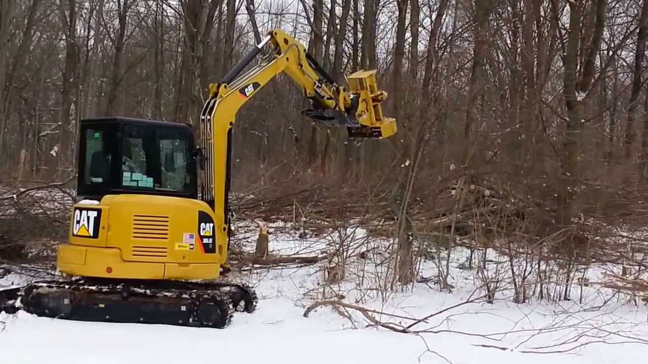 Darrell Curtis Cat 305 5 Excavator And Tree Shear January
