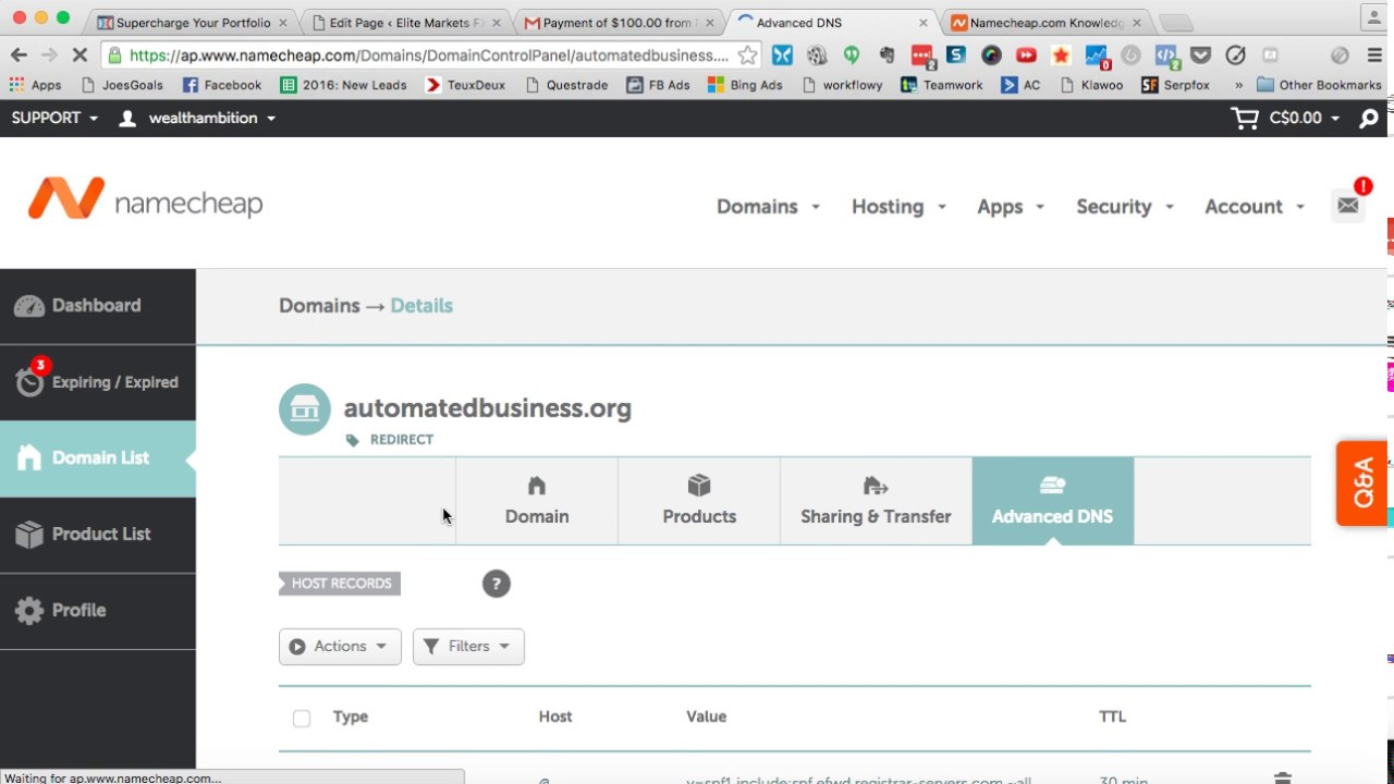 how to mask domain in namecheap