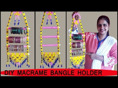 DIY  How to make Macrame Bangle Holder | Macrame Art School | FULL STEP BY STEP VIDEO TUTORIALS