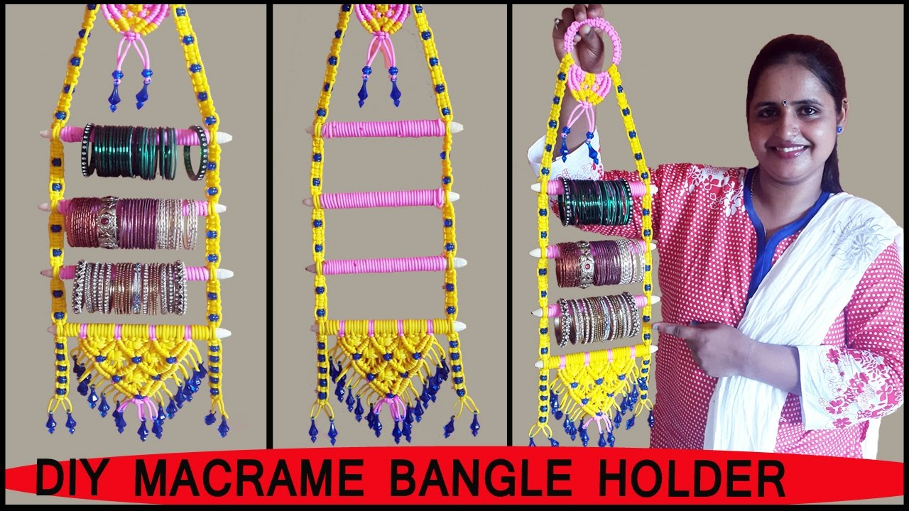 Bangle Stand Designs : Diy how to make macrame bangle holder art school