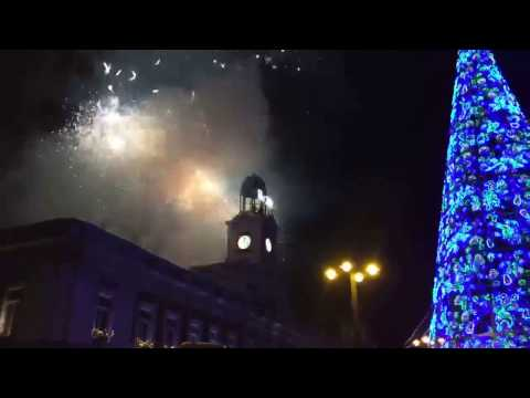 New year celebration 2017 in Madrid,Spain