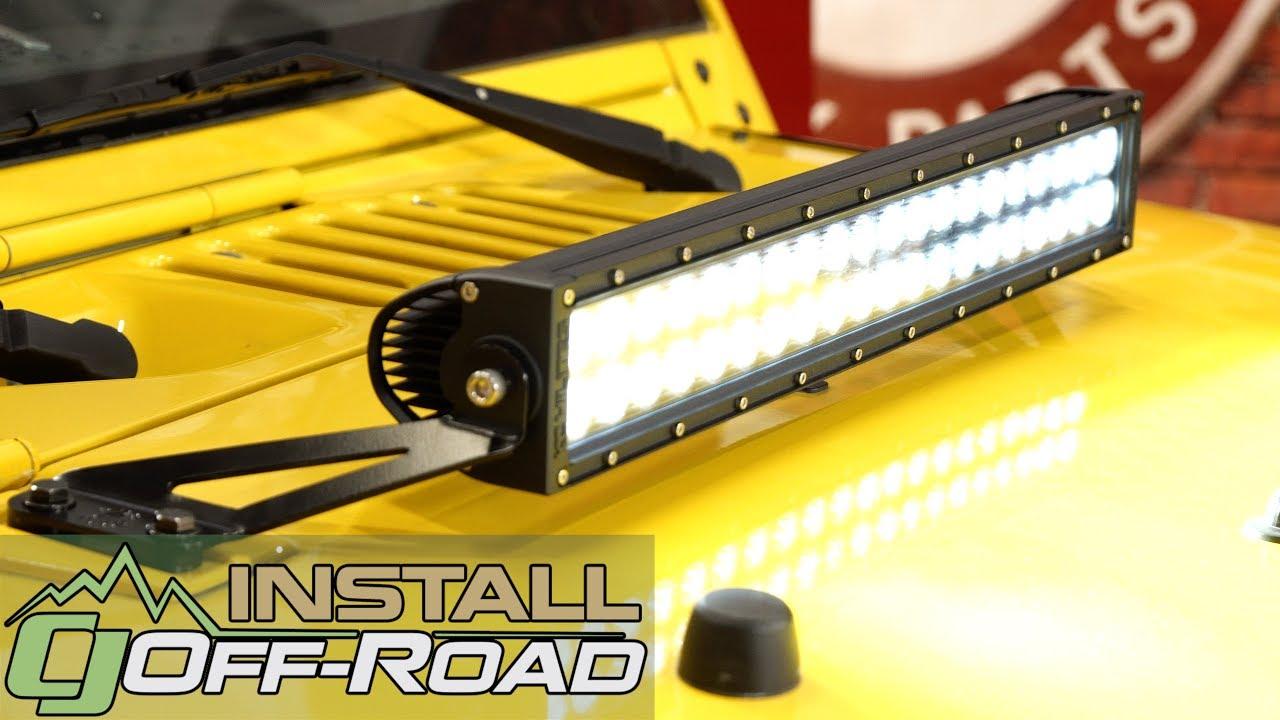 Jeep Jk Wrangler Kc Hilites Led Bar Kit C Series 20 W Hood Wiring Lights Mounting Bracket 07 18 Installation