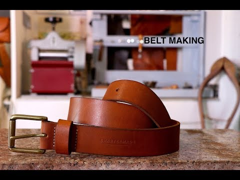 Making a veg tan leather belt tutorial