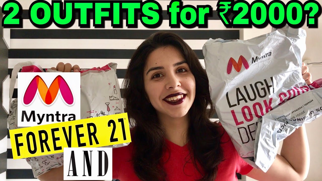 bd4a23c1e9 ₹2000 Outfit Challenge! Online Shopping In India - Myntra Edition ...