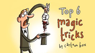 Top 6 Magic Tricks | The BEST of Cartoon Box | Hilarious Cartoon Compilation