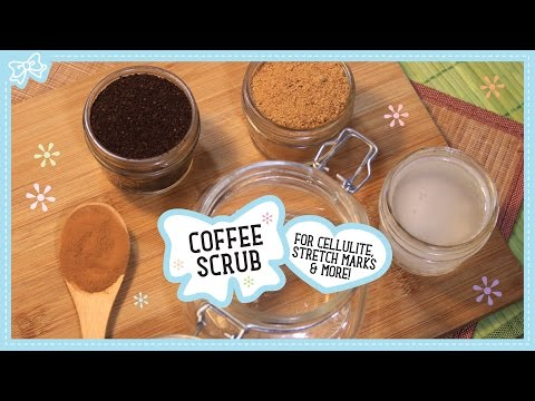 DIY Coffee Scrub for Cellulite, Stretch Marks, & More! Only 4 Ingredients!