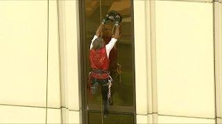 'French Spiderman' Alain Robert climbs Galaxy Macau tower