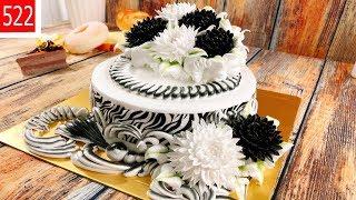 cake decorate pretty clean & chrysanthemum - bánh kem hoa cúc dẹp và mới (522)