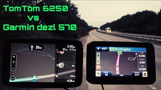 Tomtom Go Professional 6250 Vs Garmin Dezl 570 Road Test Truck Coach satnav