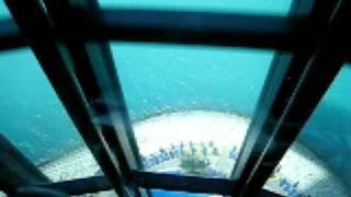 DUBAI ascensore BURJ AL ARAB dal 27° piano!