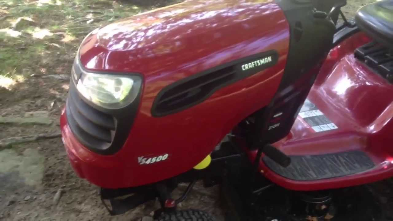 Craftsman Ys4500 Lawn Tractor Review Youtube