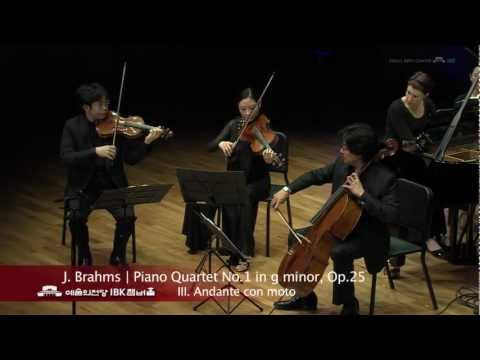 J. Brahms Piano Quartet No.1 in g minor, Op.25  3. Andante con moto