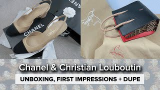 LUXE UNBOXING + Dupes // Chanel Slingbacks & Louboutin Paloma Tote
