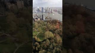 Rotterdam city from the euromast, 160 meter high.