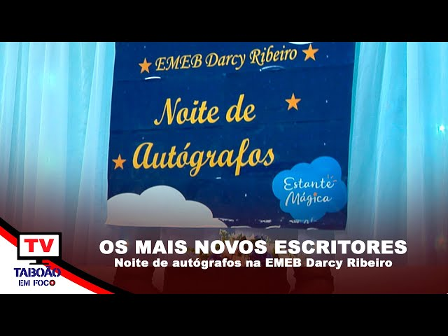 Noite de autógrafos na EMEB Darcy Ribeiro
