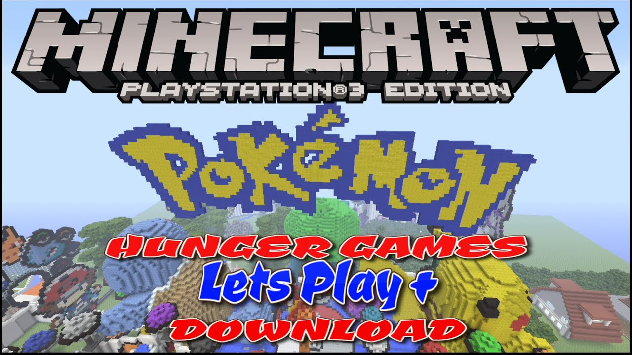 POKEMON HUNGER GAMES LETS PLAY DOWNLOAD MINECRAFT PS PS EU - Minecraft ps3 us disc maps