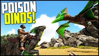 POISON DINO TAMING! - PTERA & RAPTOR - Ark Survival Evolved Modded Ep 4 ( Ark Primal Fear & More! )