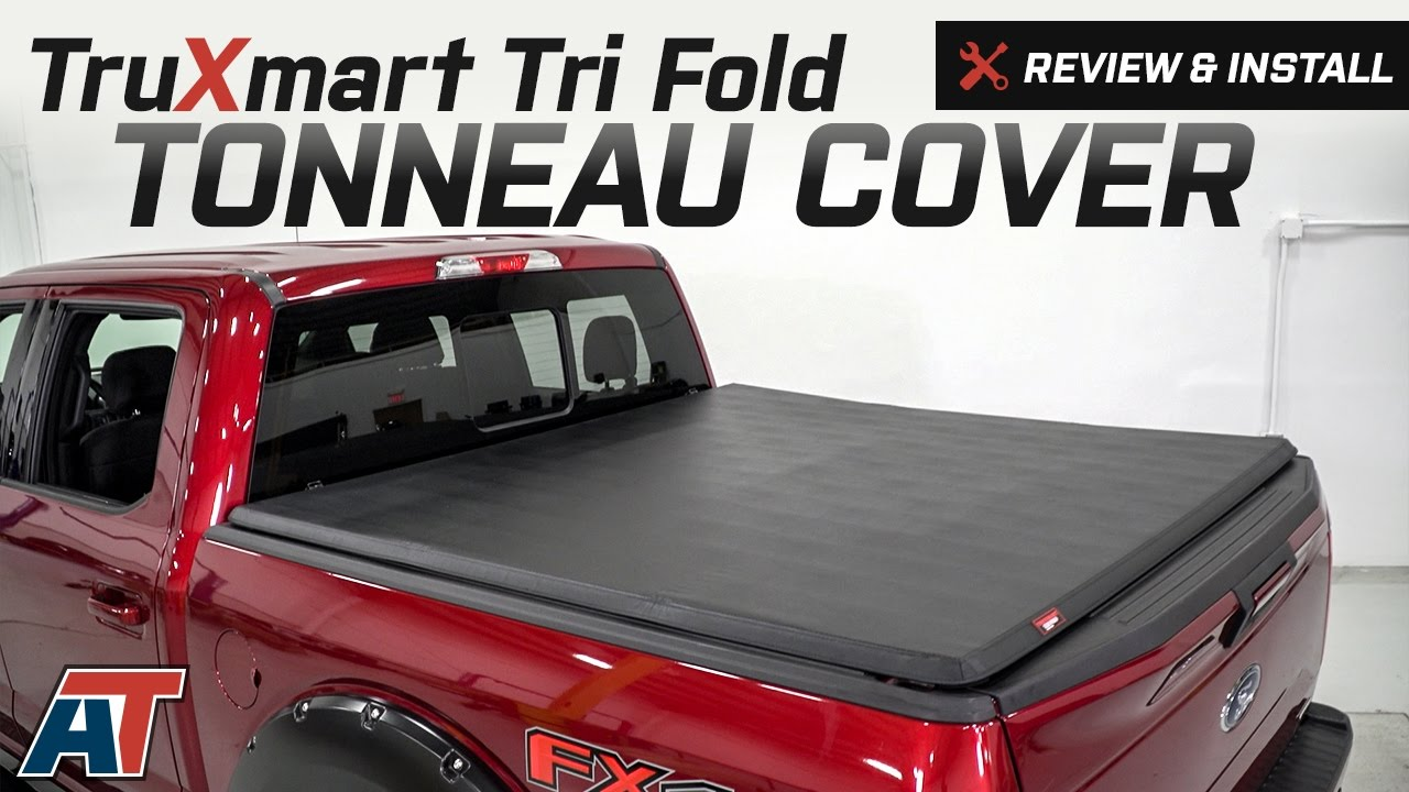 2015 2017 F150 Truxmart Tri Fold Tonneau Cover Review Install Youtube