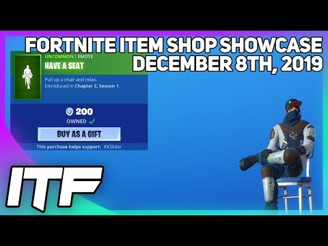 Fortnite Item Shop *NEW* HAVE A SEAT EMOTE! [December 8th, 2019] (Fortnite Battle Royale)