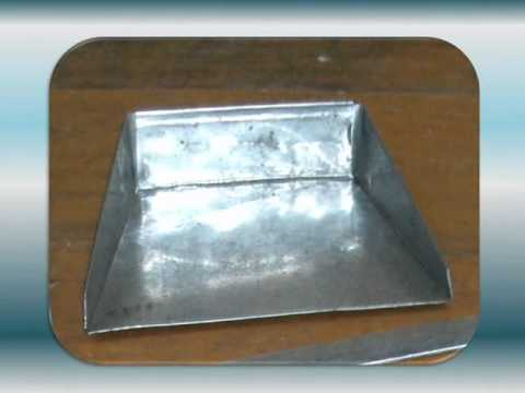 How To Make A Metal Dustpan Youtube