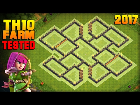 Clash Of Clans | TH10 Farming Base 2017 | TESTED IN CHAMPION LEAGUE! | BEST Town Hall 10 Hybrid Base