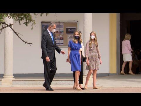 La princesa Leonor recibe la confirmación acompañada por sus padres