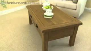 Rustic 4 Drawer Coffee Table From Oak Furniture Land