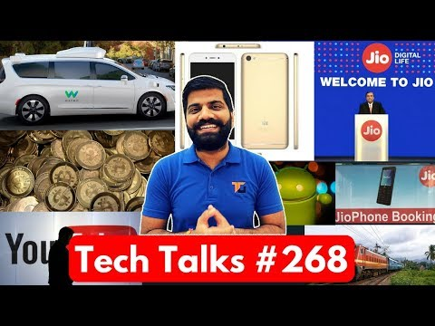 Tech Talks #268 - Jio Phone Booking, Redmi Note 4 Blast, iPhone 8 Video, Railways WiFi, Bitcoin