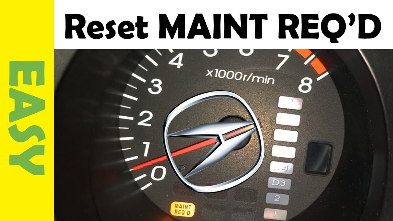 Reset Maintenance Required Light Acura Tl 2001 2006 Mdx