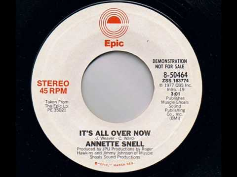 Annette snell it s all over now youtube