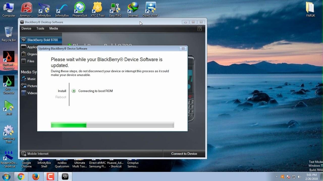 Updating a blackberry bold 9700