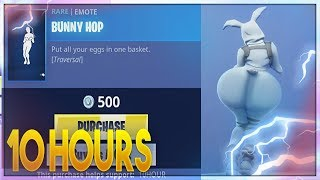 Fortnite - Bunny Hop (Bunny skin back view POV) 10 Hours