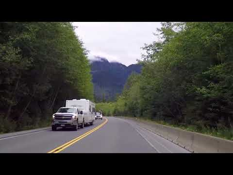 Vancouver Island Highway 19 - Driving to Campbell River BC Canada - Lush Nature