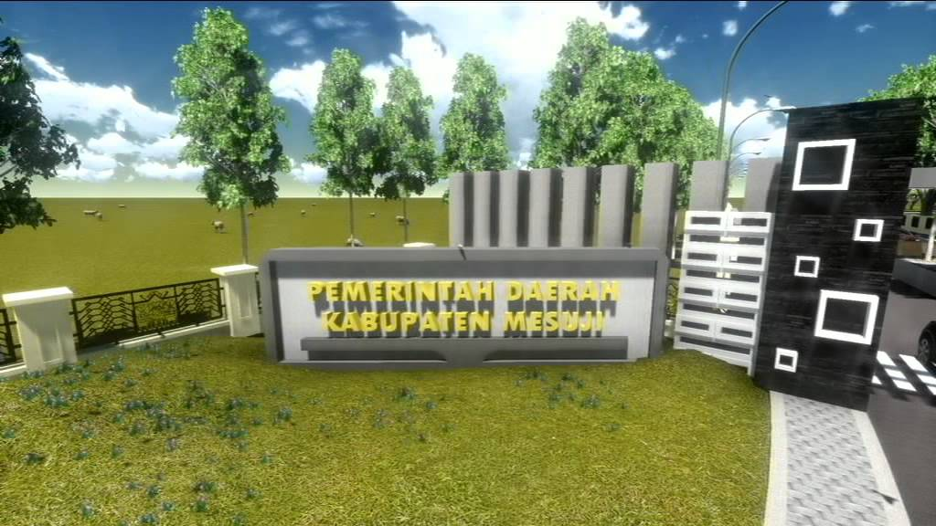 Animasi Rencana Desain Gapura Kantor Pemda Kabupaten Mesuji Youtube