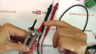Multimeter probe safe use and safety features