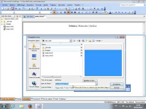 Utilisation simplifiée de Front-Page 2003
