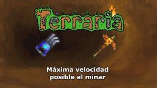 Máxima velocidad al minar - Terraria 1.2.4.1