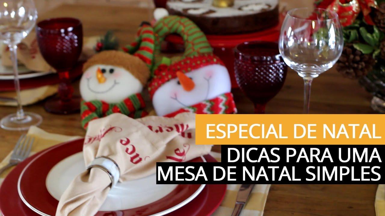 Decoraç u00e3o simples para a Mesa de Natal por Patricia Junqueira YouTube