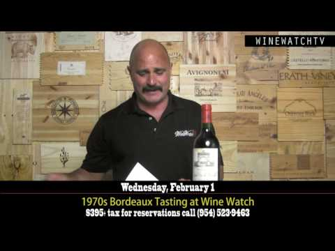 1970s Bordeaux Tasting at Wine Watch - click image for video