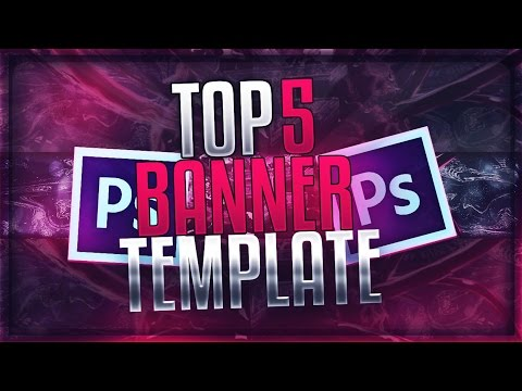 📸 TOP 5 FREE YouTube Banner Templates #2 | FREE DOWNLOAD (2016)
