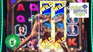 #G2E2017 IGT - Jurassic Park Trilogy The Lost World, And Cash Climb Heavenly Treasures