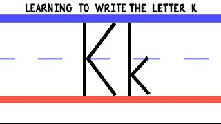 Write the Letter K - ABC Writing for Kids - Alphabet Handwriting by 123ABCtv